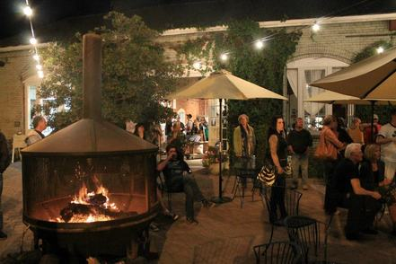 The Workhouse, Bend, Oregon, firepit, summer night, cafe, shop, Sparrow Bakery, Old Ironworks Arts District